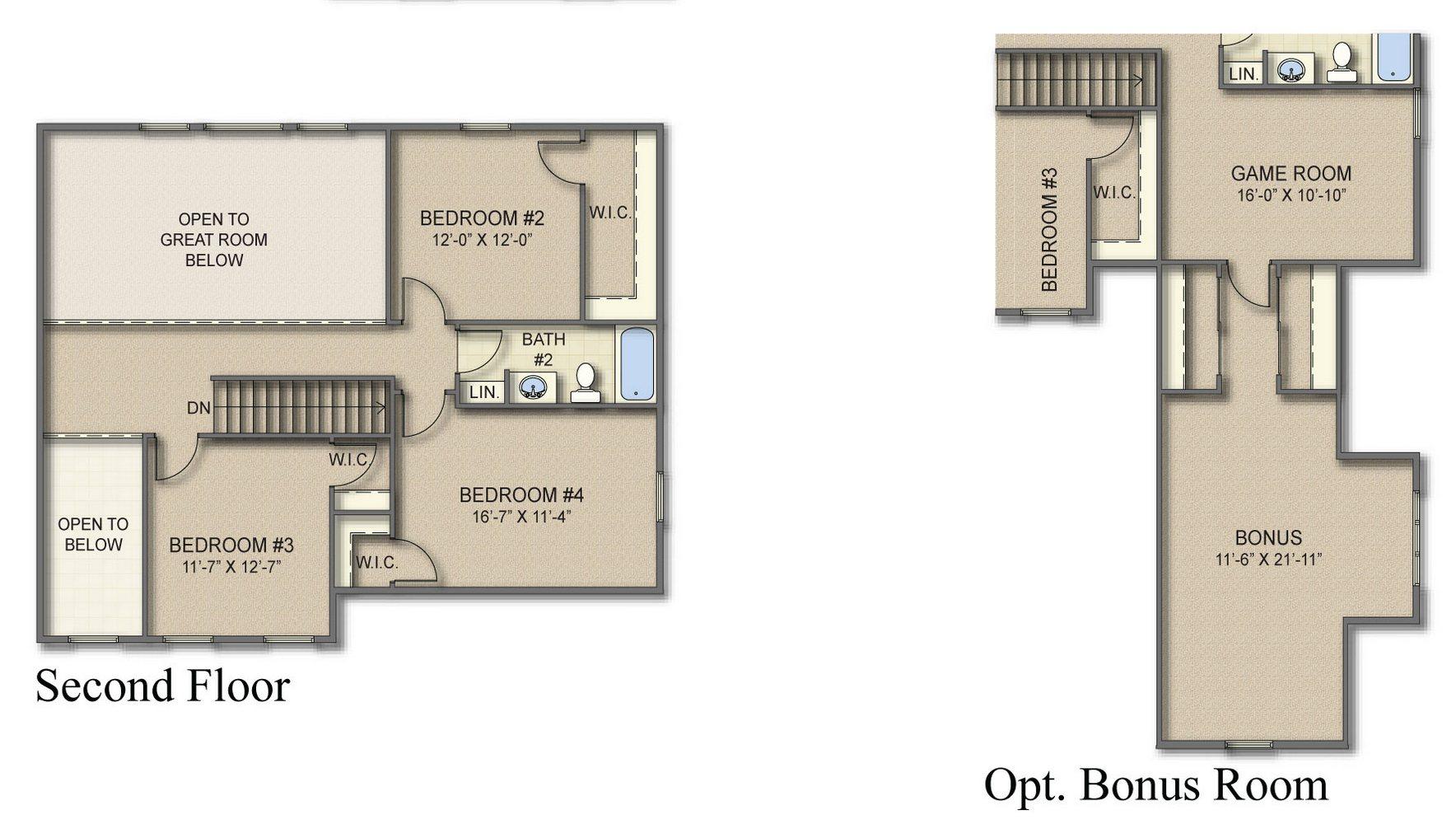 Bristol 2nd Floor Plan