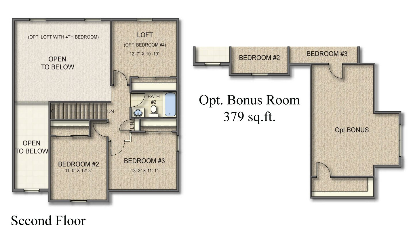 Hartford 2nd Floor Plan