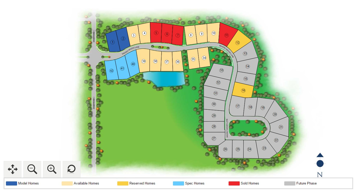 Interactive Site Plans Build With Capital Homes
