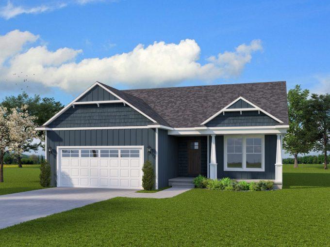 1439 sqft Ranch Home Plan