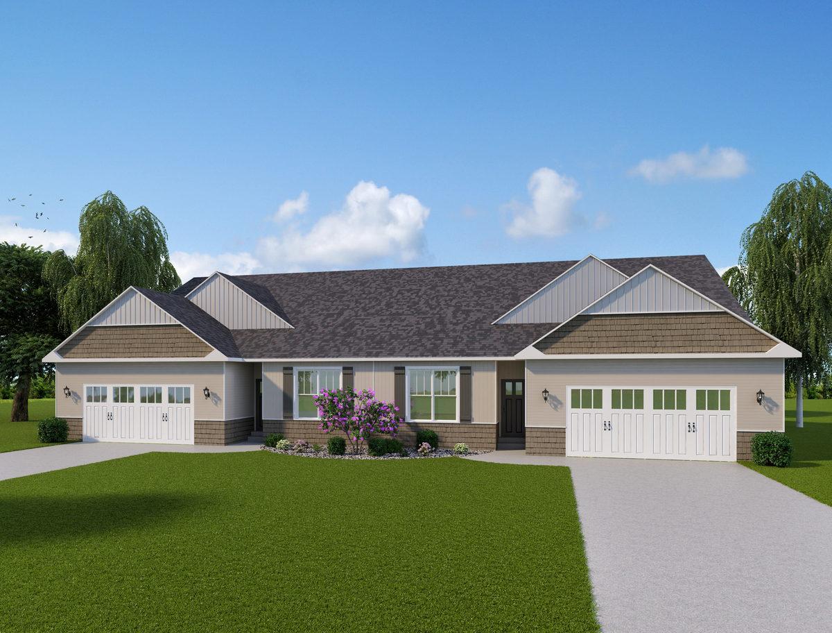 Duplex Custom Home Plan Howell MI